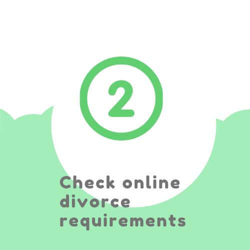 Check online divorce requirements